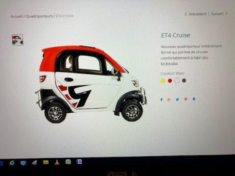 Ecolocycle ET-4- CRUISE  à cabine fermée